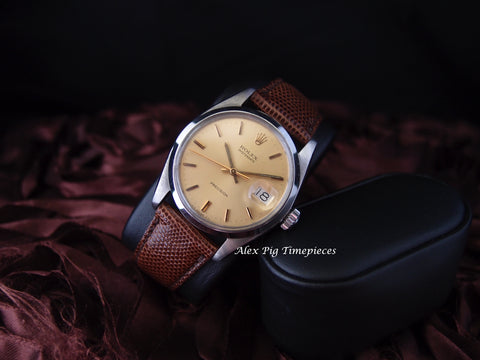 Rolex OYSTER DATE 6694 Original Gold Dial with Gold Hands