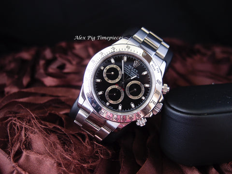 Rolex DAYTONA 116520 Stainless Steel Black Dial with BOX and PAPER