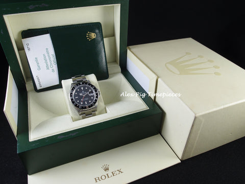 Rolex GMT MASTER 2 16710 Black Bezel with BOX and PAPER Z Serial