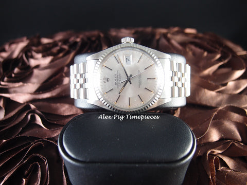Rolex DATEJUST 16014 Stainless Steel Original Silver Dial
