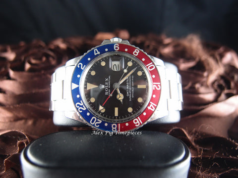 Rolex GMT MASTER 1675 Matt Dial with Light Chocolate Dial