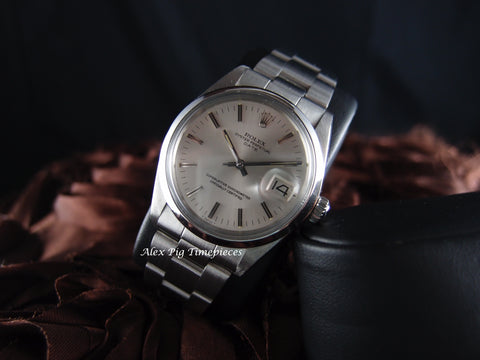 1972 Rolex OYSTER DATE 1500 Original Silver Dial Full Set with Box and Paper