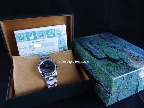 Rolex AIR KING 14000 Original Bluish Grey Dial with Box and Paper