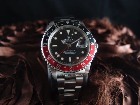 Rolex GMT MASTER 2 16710 Coke Red/Black Bezel
