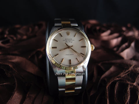 1987 Rolex AIR KING 5501 Original Cream Dial with 2-Tone Band RARE