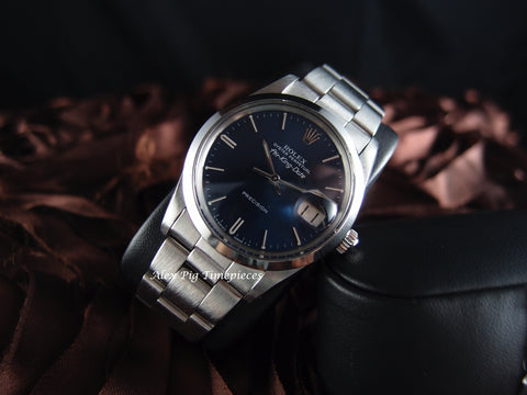 Rolex AIR KING DATE 5700 Original Blue Dial with Solid Oyster Band