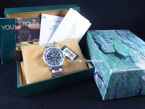 Rolex GMT MASTER 2 16710 Black Bezel with BOX and PAPER