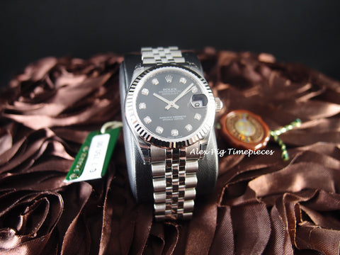 Rolex DATEJUST 178274 Boy Size with Black Diamond Dial [NEW]