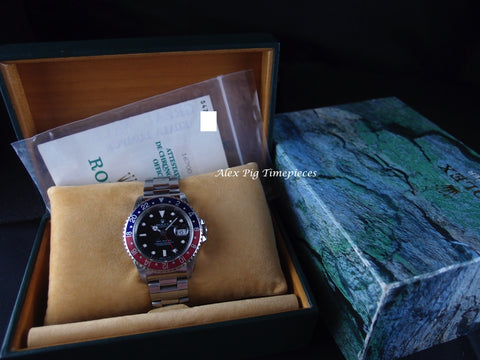 Rolex GMT MASTER 16700 Pepsi Red/Blue Bezel with BOX and PAPER