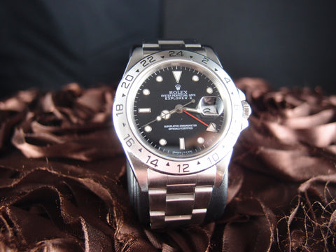 1992 Rolex EXPLORER 2 16570 with Black Dial