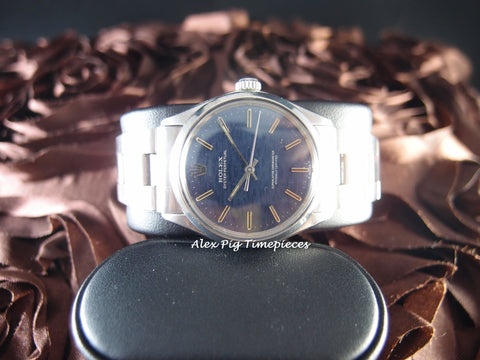 Rolex OYSTER PERPETUAL 1002 Original Blue Texture Dial