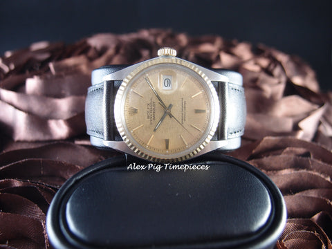 1976 Rolex DATEJUST 1601 2-Tone SS/18k Gold ORIGINAL Gold Tapestry Dial