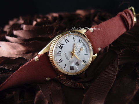 Rolex DAY-DATE 1803 18K Gold with Original White Roman (Buckley) Dial
