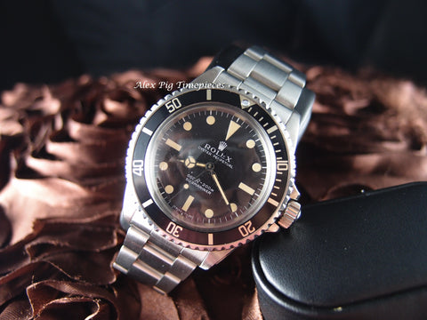 Rolex SUBMARINER 5513 Matt Dial Full Set with Box and Papers