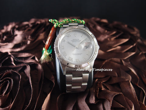 Rolex DATEJUST TURN-O-GRAPH 16264 ORIGINAL Silver Roman Full Set