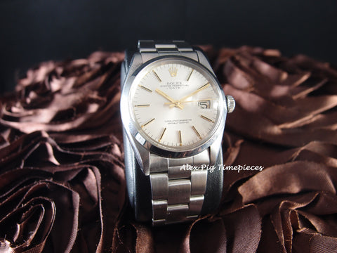 Rolex OYSTER DATE 1500 Original Silver Dial with Gold Hands