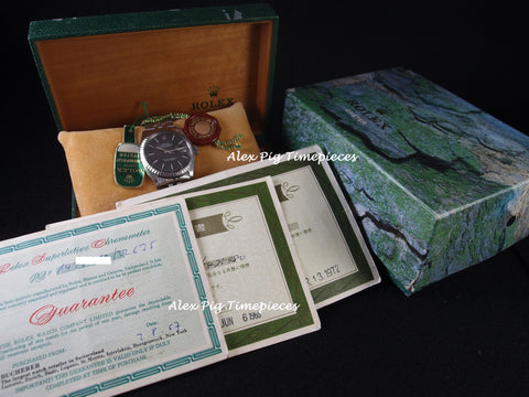 Rolex DATEJUST 1603 SS ORIGINAL Grey Dial with Box and Paper