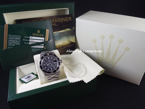 Rolex SUBMARINER 16610 Black Bezel with Box and PAPER [NEW]