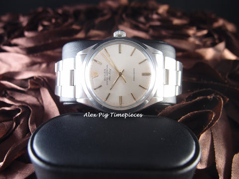 Rolex AIR KING 5500 Original Silver Dial with Gold Hands