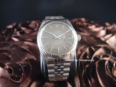 Rolex DATEJUST 16014 Stainless Steel Original Grey Dial