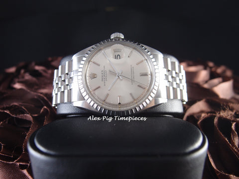 Rolex DATEJUST 1603 SS ORIGINAL Silver Dial with Jubilee Band
