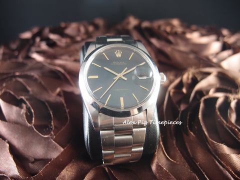Rolex OYSTER DATE 6694 Original Black Dial with Gold Hands