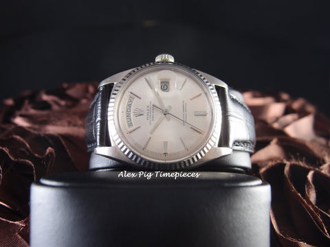 Rolex DAY-DATE 1803 18K White Gold with Original Silver Dial