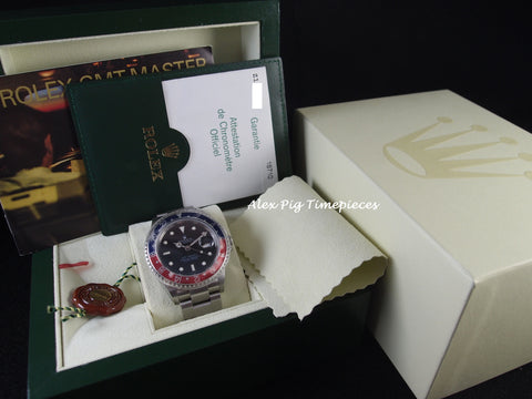 Rolex GMT MASTER 2 16710 Pepsi Red/Blue Bezel Full Set