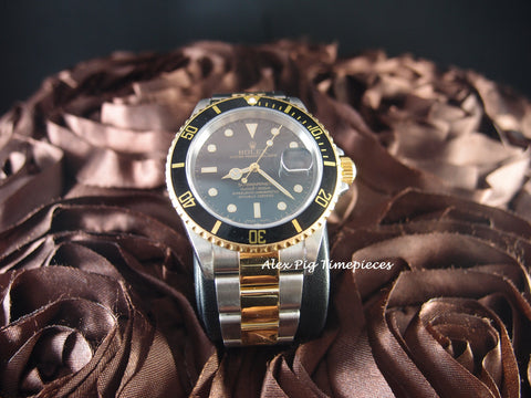 Rolex SUBMARINER 16613 2-Tone Black Dial with Box and Paper