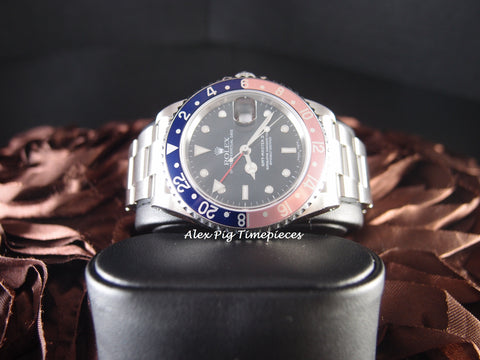Rolex GMT MASTER 2 16710 Pepsi Red/Blue Bezel P Serial SEL