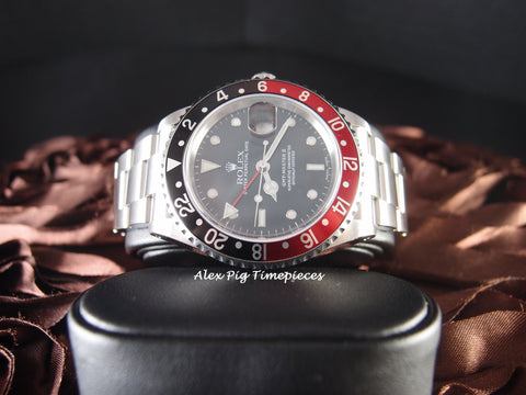 1995 Rolex GMT MASTER 2 16710 Coke Red/Black Bezel
