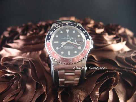 Rolex GMT MASTER 2 16710 Coke Red/Black Bezel P Serial SEL