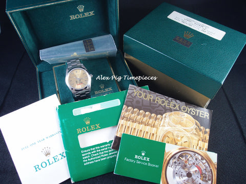 1993 Rolex AIR KING 14000 Original Dial with Safe Driver Logo Full Set