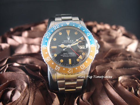 Rolex GMT MASTER 16750 Matt Dial with Heavy Yellowish Patina