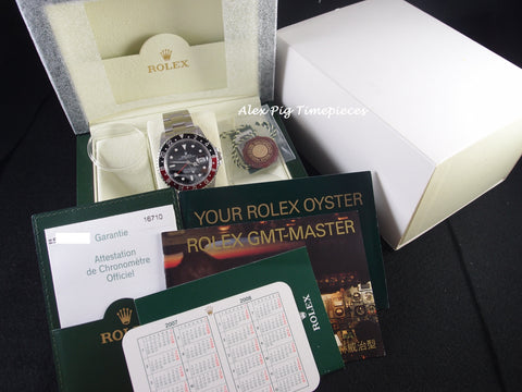 Rolex GMT MASTER 2 16710 Coke Red/Black Bezel with BOX and PAPER [NEW]