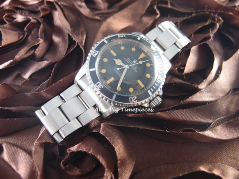 Rolex SUBMARINER 5513 Matt Dial Dome Crystal MK1 Serif Nice Patina