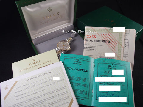 Rolex OYSTER DATE 1500 2-Tone Original Silver Dial with Box and Paper