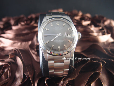 Rolex DATEJUST 1600 SS ORIGINAL Grey Sigma Dial with Oyster Band