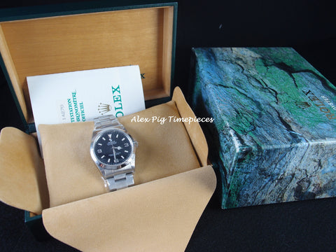 Rolex EXPLORER 1 14270 Black Dial Full Set with Box and Paper