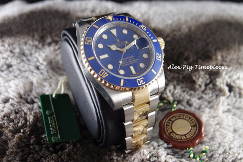 Rolex SUBMARINER 116613LB 2-Tone Blue Dial Ceramic Bezel Full Set