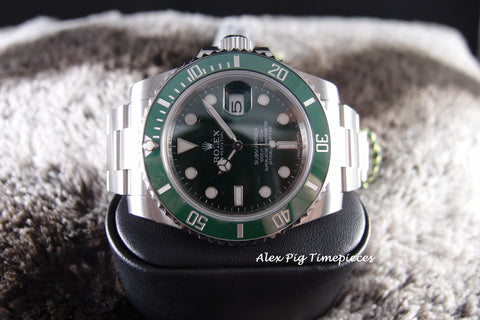Rolex SUBMARINER 116610LV Stainless Steel Green Ceramic Bezel Full Set