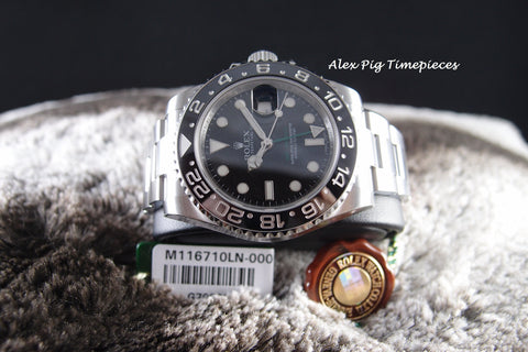 Rolex GMT-MASTER 2 116710LN Stainless Steel Ceramic Bezel Full Set