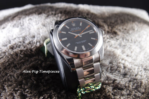Rolex MILGAUSS 116400 Black Dial Full Set