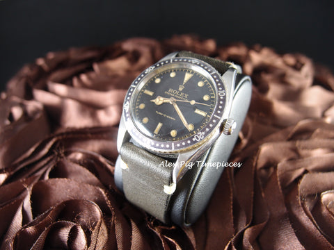 Rolex Turn-O-Graph 6202 Glossy Gilt Dial with Purple Bezel