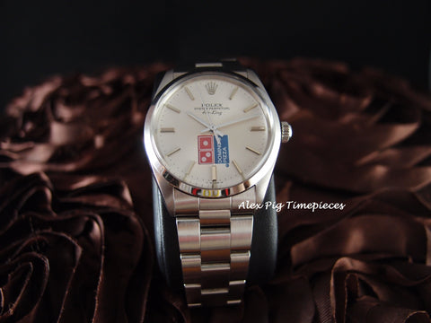1987 Rolex AIR KING 5500 Original Domino Pizza Dial with Box and Paper