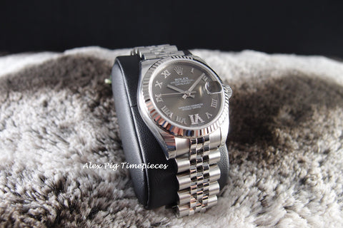 Rolex DATEJUST 178274 Boy Size Bronze VI Diamond Dial Full Set