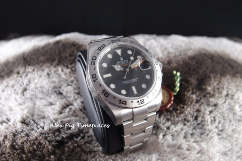 Rolex EXPLORER 2 216570 Black Dial Orange Hand Full Set