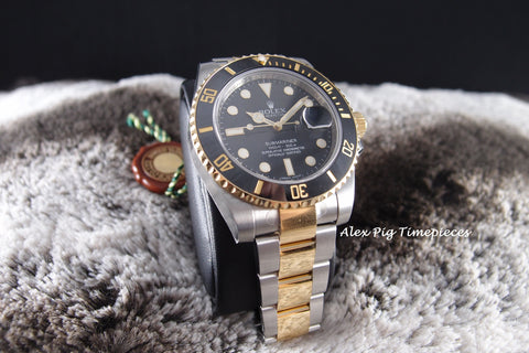 Rolex SUBMARINER 116613LN 2-Tone Black Dial Ceramic Bezel Full Set