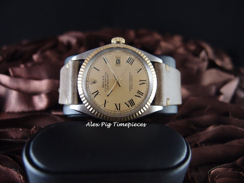 Rolex DATEJUST 1601 2-Tone SS/18k Gold Ivory Roman Dial