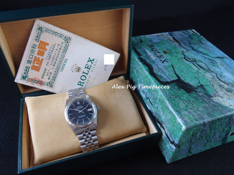 Rolex DATEJUST 16014 Stainless Steel Original Black Dial with Box & Paper
